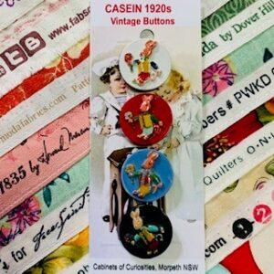 Casein Rabbit Buttons, Vintage x 4 (code 075)