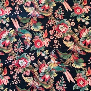 Morpeth Antiques Campbells Store Hunter Valley Fabric new birds flowers black
