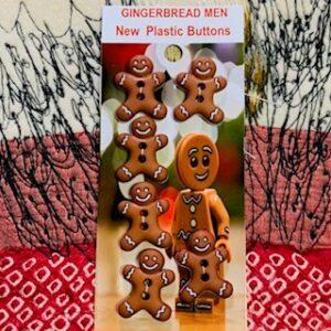 Gingerbread Men, NEW novelty x 6 (code 078)