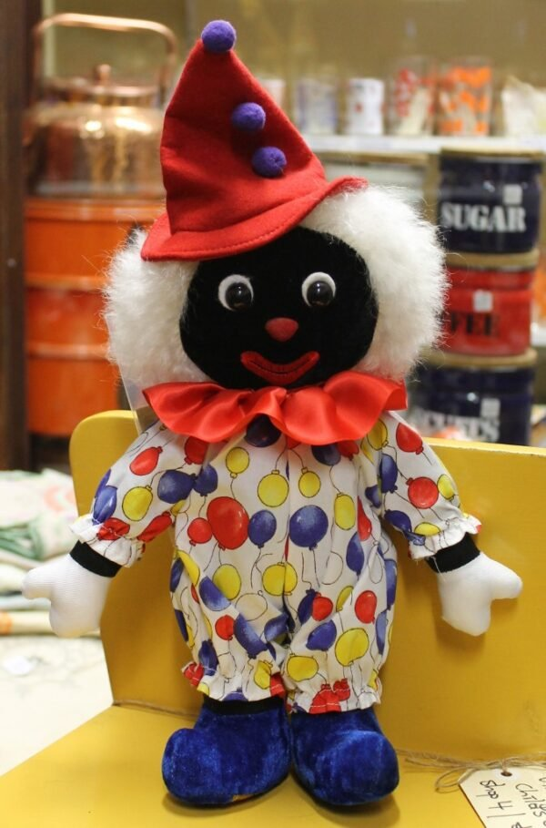 morpeth antique centre hunter valley golly golliwogg merrythought made in england united kingdom buffon clown jester balloons