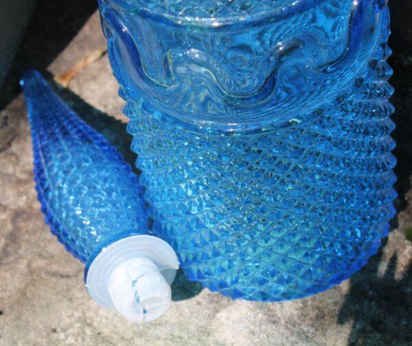 morpeth antique centre hunter valley vintage glass italian made genie bottle blue green original stopper