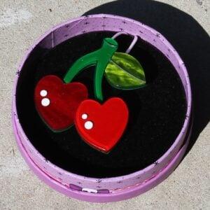 Erstwilder Brooch – Cherry Kiss