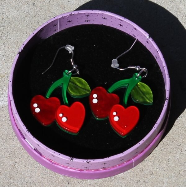 morpeth antique centre hunter valley erstwilder brooch necklace earrings enamel pin glow in the dark cute and spooky halloween mimsy gleeson cherry kiss