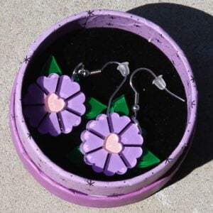 Erstwilder Earrings – Blue Blooms (Yes, they are actually purple/pink)