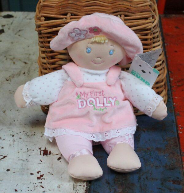 morpeth gift gallery hunter valley gund my first dolly doll brunette blonde pink rag cloth