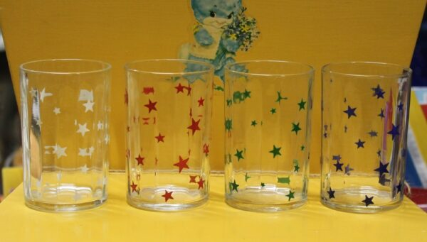 morpeth antique centre hunter valley vintage swanky swig glass set four stars kraft condiment jar