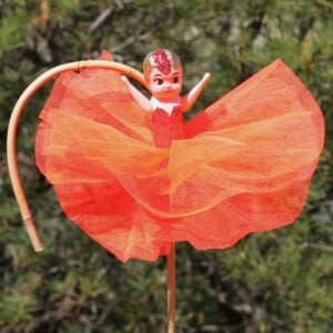 Kewpie Doll – Fluorescent Coral Red (looks more orange here)