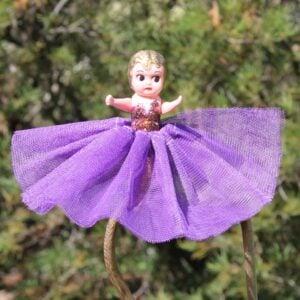 Kewpie Doll – Burgundy with Purple