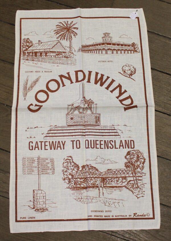 morpeth antique centre hunter valley road trip teatowel goondiwindi cotton nsw australia
