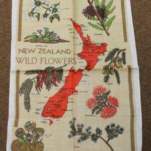 Teatowel – New Zealand (Flowers)