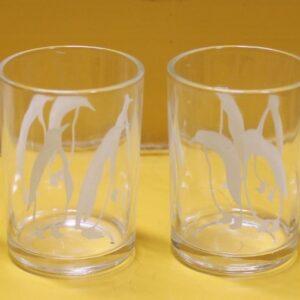 Swanky Swig Sample Size Four Glasses (Penguin)