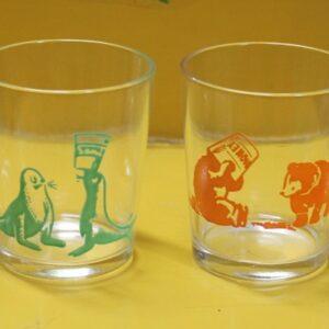 Swanky Swig Glass Set of Four – Animals
