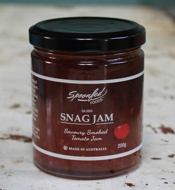morpeth gourmet foods hunter valley gift spoonfed savoury sweet jam chipotle lamb red onion snag