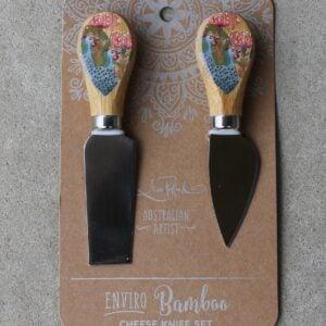 Cheese Knife Duo – Guinea Fowl Grey