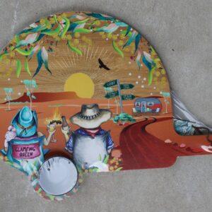Serving Platter & Bowl – Adventure Sunset