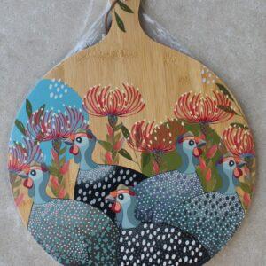 Serving Platter Round – Guinea Fowl Grey