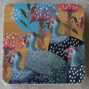 Coaster Set of Four – Guinea Fowl Grey
