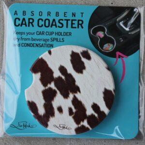 Car Coaster – Cow Hide