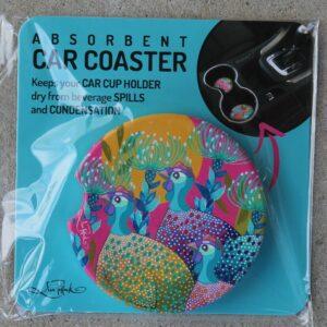 Car Coaster – Guinea Fowl Rainbow