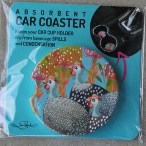 Car Coaster – Guinea Fowl Grey