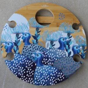 Picnic Table – Guinea Fowl Blue