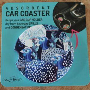 Car Coaster – Guinea Fowl Blue