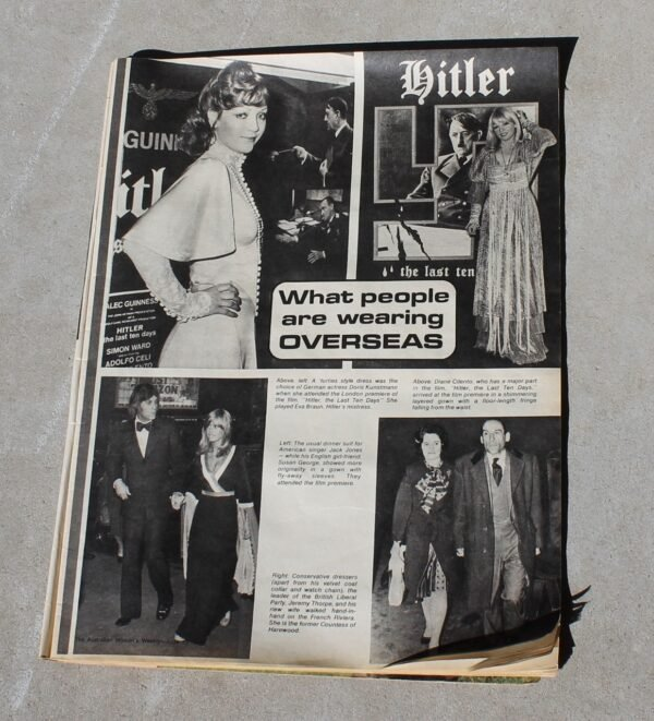 morpeth antique centre hunter valley australian women's weekly magazine june 1973 P&O cruise himalaya continental the last ten days of hitler movie