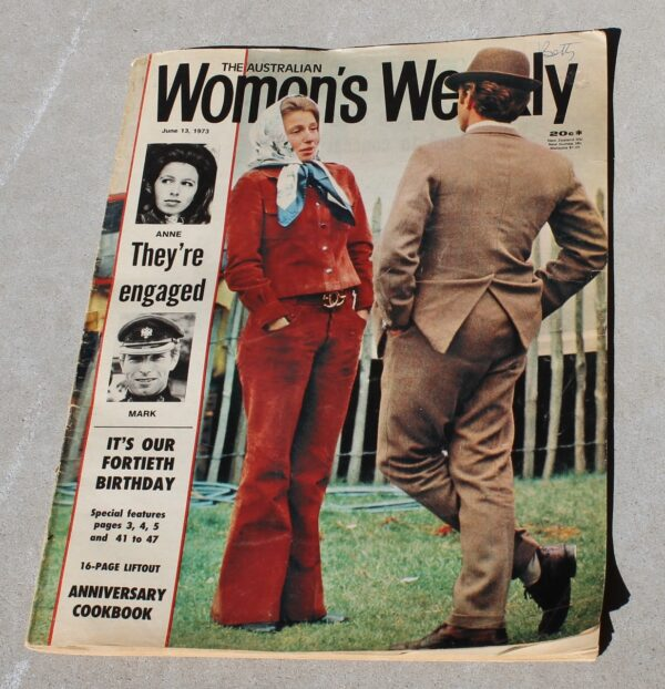morpeth antique centre hunter valley australian women's weekly magazine june 1973 P&O cruise himalaya continental princess anne engagement united kingdom royal family the last ten days of hitler movie