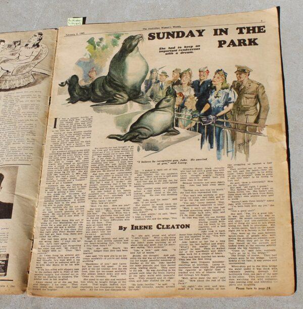 morpeth antique centre hunter valley australian women's weekly magazine february 1945 world war two era duke of gloucester united kingdom royal family plane crash