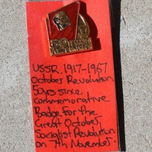 50 Years since the Russian Revolution Badge