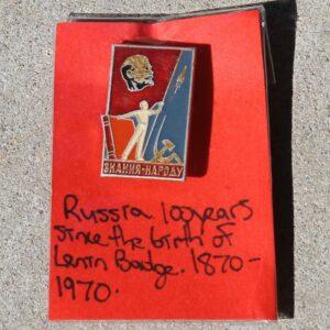 100 Years Birth of Lenin Badge