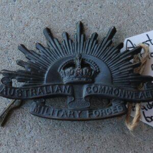 Australian Rising Sun Cap Badge