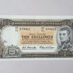 Australian Ten Shilling Banknote 1961