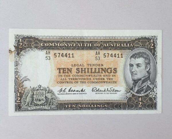 morpeth antique centre hunter valley australian ten five one pound commonwealth australia shilling bank note