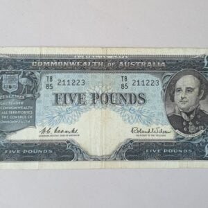 Australian Five Pound Banknote 1960