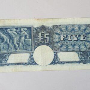 Australian Five Pound Banknote 1952