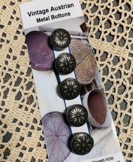 Morpeth antique centre buttons shop 4 hunter valley vintage Austrian metal