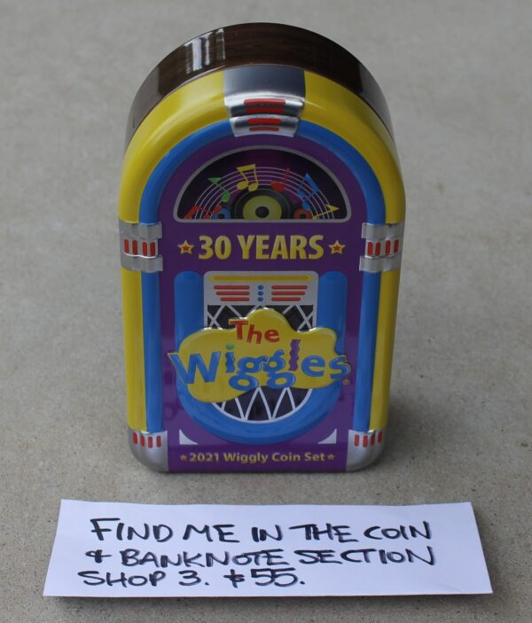 morpeth antique centre hunter valley wiggles 30th birthday anniversary thirty cent coin royal australian mint limited edition jukebox
