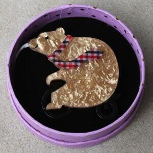 Erstwilder Brooch – Grouchy Bear