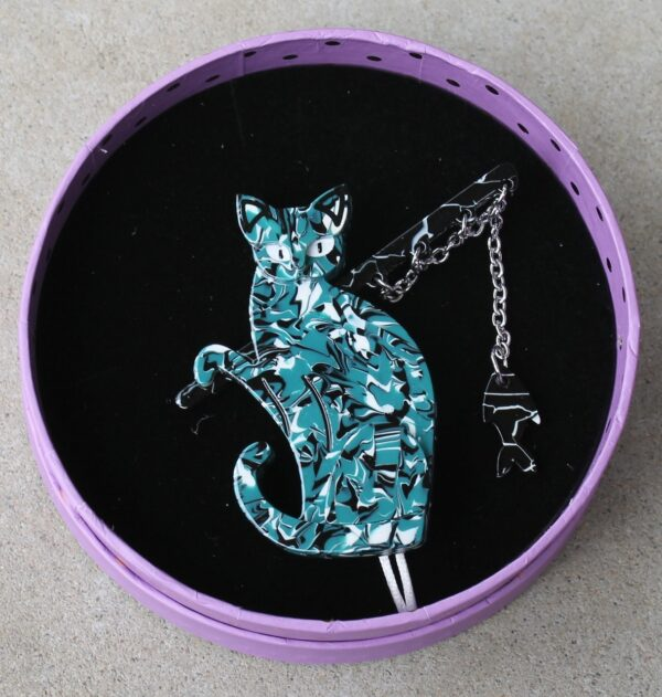 morpeth antique centre hunter valley famous fishing cat erstwilder enamel pin tenth birthday brooch necklace fan favourites retro collectable pinup