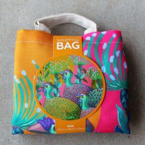 Re-Usable Shopping Bag – Guinea Fowl Rainbow