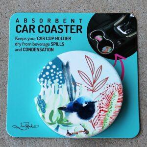 Car Coaster – Blue Wren