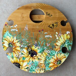 Picnic Table Round – Sunflowers