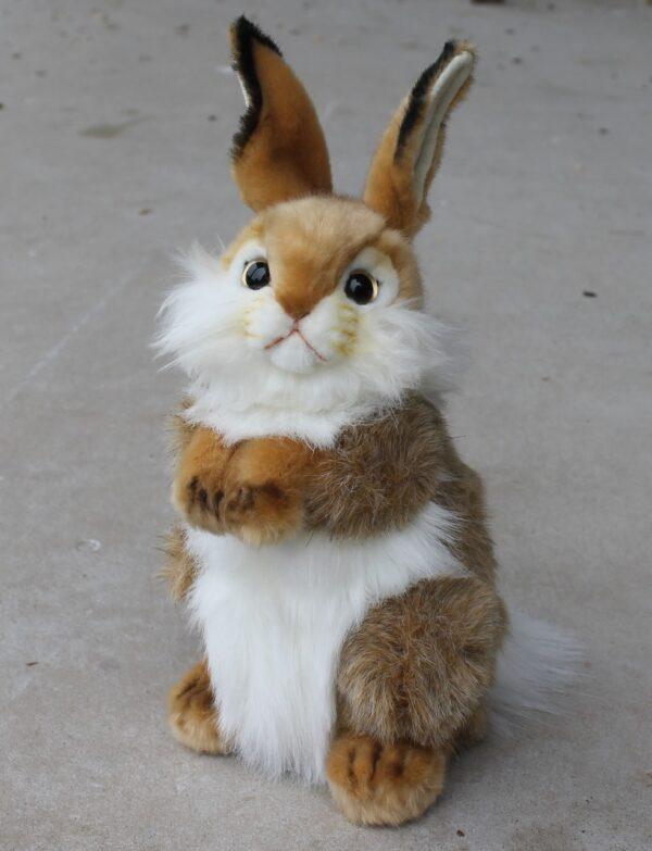 morpeth gift gallery hutner valley hansa plush animal bird creation rabbit bunny brown white begging
