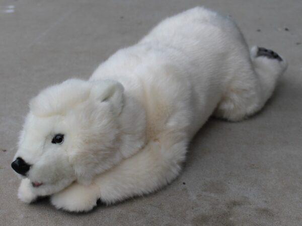 morpeth gift gallery hutner valley hansa plush animal bird creation polar bear white lying