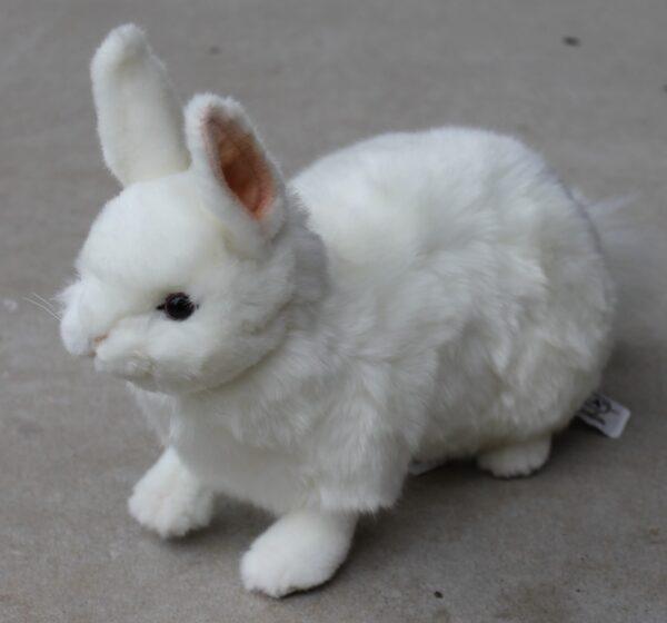 morpeth gift gallery hutner valley hansa plush animal bird creation white rabbit bunny