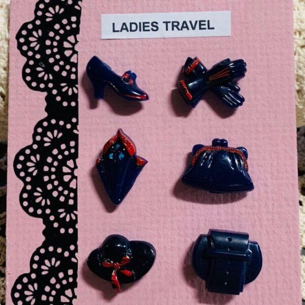 Morpeth antique centre buttons shop 4 hunter valley set of Goofie novelty vintage ladies travel
