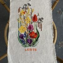 morpeth antique centre hunter valley embroidered panel linen cross stitich shop two saskia vintage fashion