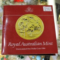 morpeth antique centre hunter valley mandscoinsandbanknotes australia's first one dollar coin 1984 royal mint RAM uncirculated